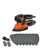 KA2000AT-GB 120w New Compact Mouse Sander with 10 Sanding Sheets and Storage Tin