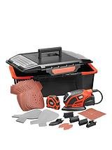KA1000AST-GB Premium Mouse Sander with Accessories and Click and Connect Storage Box