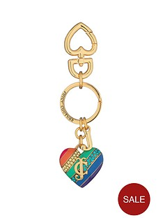 juicy-couture-rainbow-crystal-heart-keyring