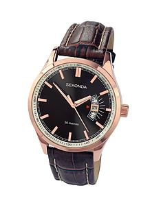 sekonda-rose-gold-case-black-dial-brown-leather-strap-mens-watch