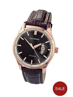 sekonda-rose-gold-case-black-dial-brown-leather-strap-mens-watch