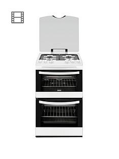 zanussi-zcg43000wa-55cm-gas-freestanding-double-oven-white