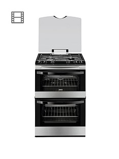 zanussi-zcg63010xa-60cm-gas-freestanding-double-oven-cooker-stainless-steel