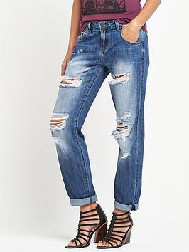 Firetrap Ripped Boyfriend Jeans