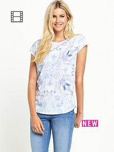 south-blue-print-jersey-back-woven-front-top