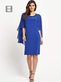 wallis-embellished-short-cape-dress