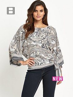 wallis-blush-paisley-tie-side-blouse