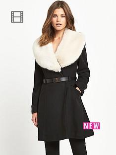 miss-selfridge-faux-fur-trim-collar-coat
