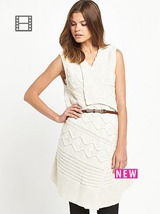 miss-selfridge-sleeveless-belted-waterfall-dress