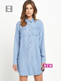miss-selfridge-tencel-shirt-dress
