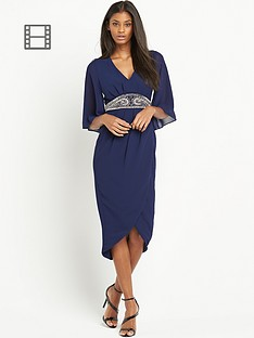 tfnc-embellished-waist-wrap-midi-dress