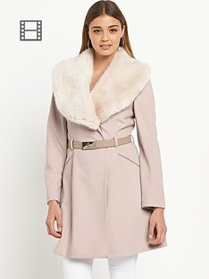 miss-selfridge-fur-trim-collar-coat