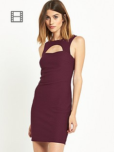 miss-selfridge-burgundy-texture-dress