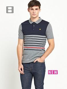 lyle-scott-mens-breton-stripe-polo-shirt-mid-grey-marl