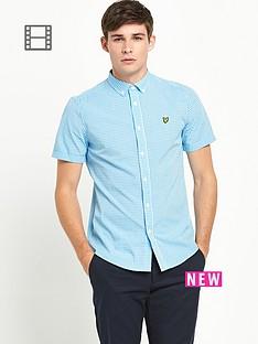 lyle-scott-mens-short-sleeve-gingham-check-shirt-french-navy