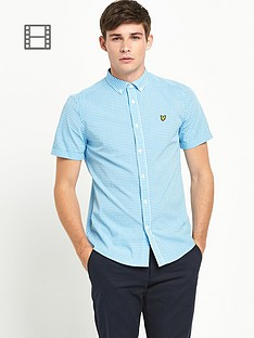 lyle-scott-mens-short-sleeve-gingham-check-shirt-french-navy