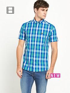 lyle-scott-mens-short-sleeve-check-shirt-green