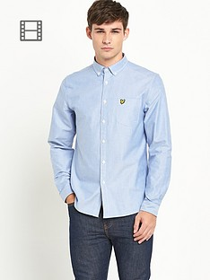 lyle-scott-mens-long-sleeve-oxford-shirt-french-navy