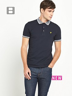 lyle-scott-mens-knit-collar-polo-shirt-new-navy