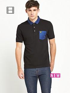 lyle-scott-mens-chest-pocket-polo-shirt-true-black