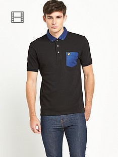 lyle-scott-mens-chest-pocket-polo-shirt-true-black