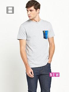 lyle-scott-mens-tartan-detail-crew-neck-t-shirt-light-grey-marl
