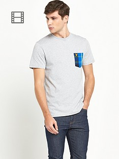 lyle-scott-mens-tartan-detail-crew-neck-t-shirt-light-grey-marl