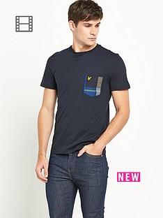 lyle-scott-mens-tartan-detail-crew-neck-t-shirt-new-navy