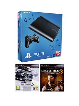 playstation-3-500gb-console-with-gran-turismo-5-academy-and-uncharted-3-drakes-deception-game-of-the-year