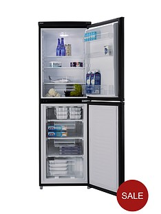 candy-csc1745be-55cm-fridge-freezer-black