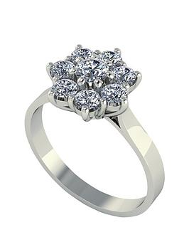 moissanite-one-carat-8-stone-cluster-9-carat-white-gold-ring