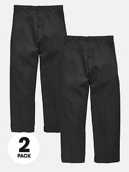 top-class-plus-fit-boys-school-uniform-flat-front-trousers-2-pack