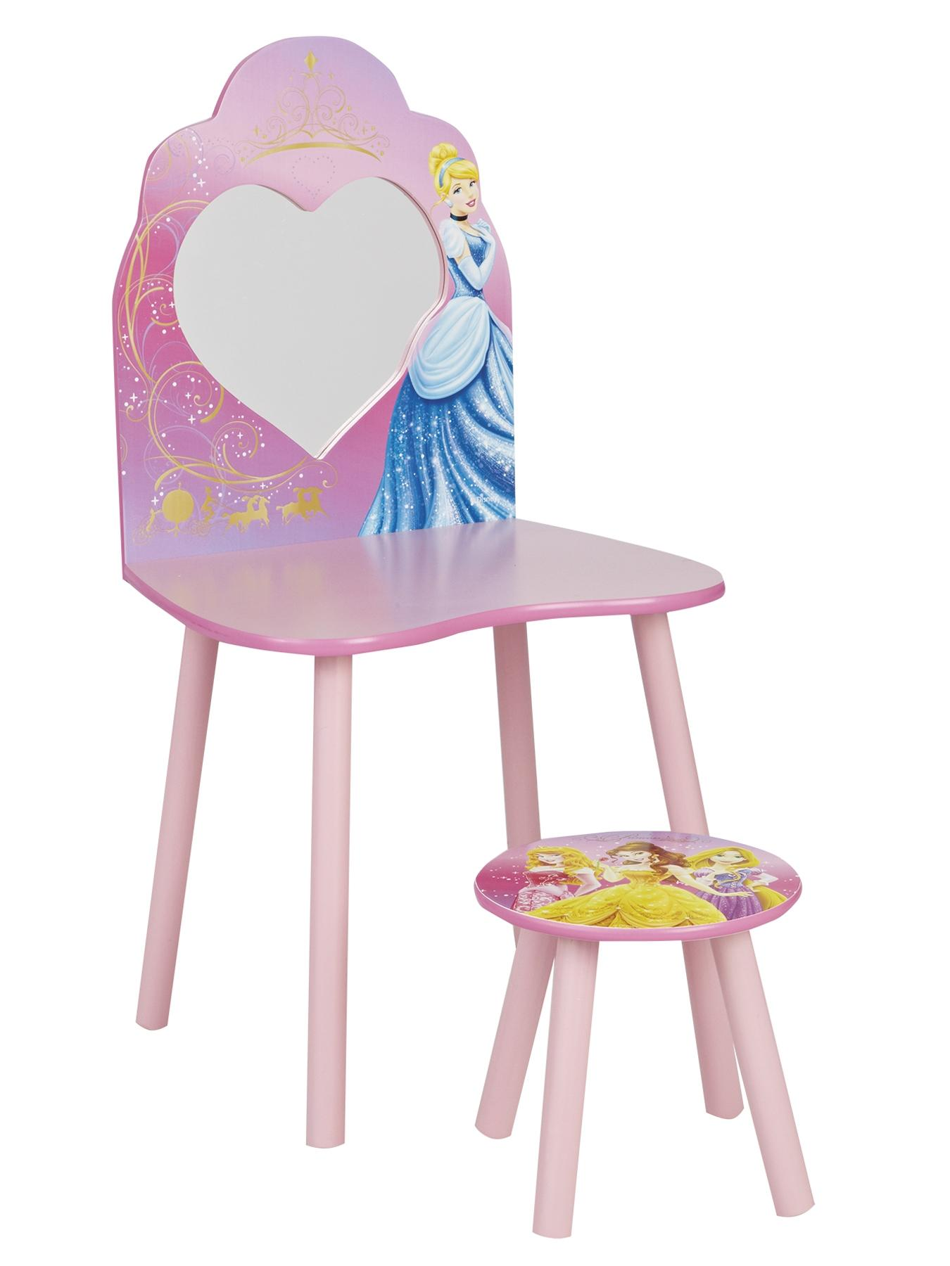 Disney Vanity Dressing Table and Chair - Pink, Pink