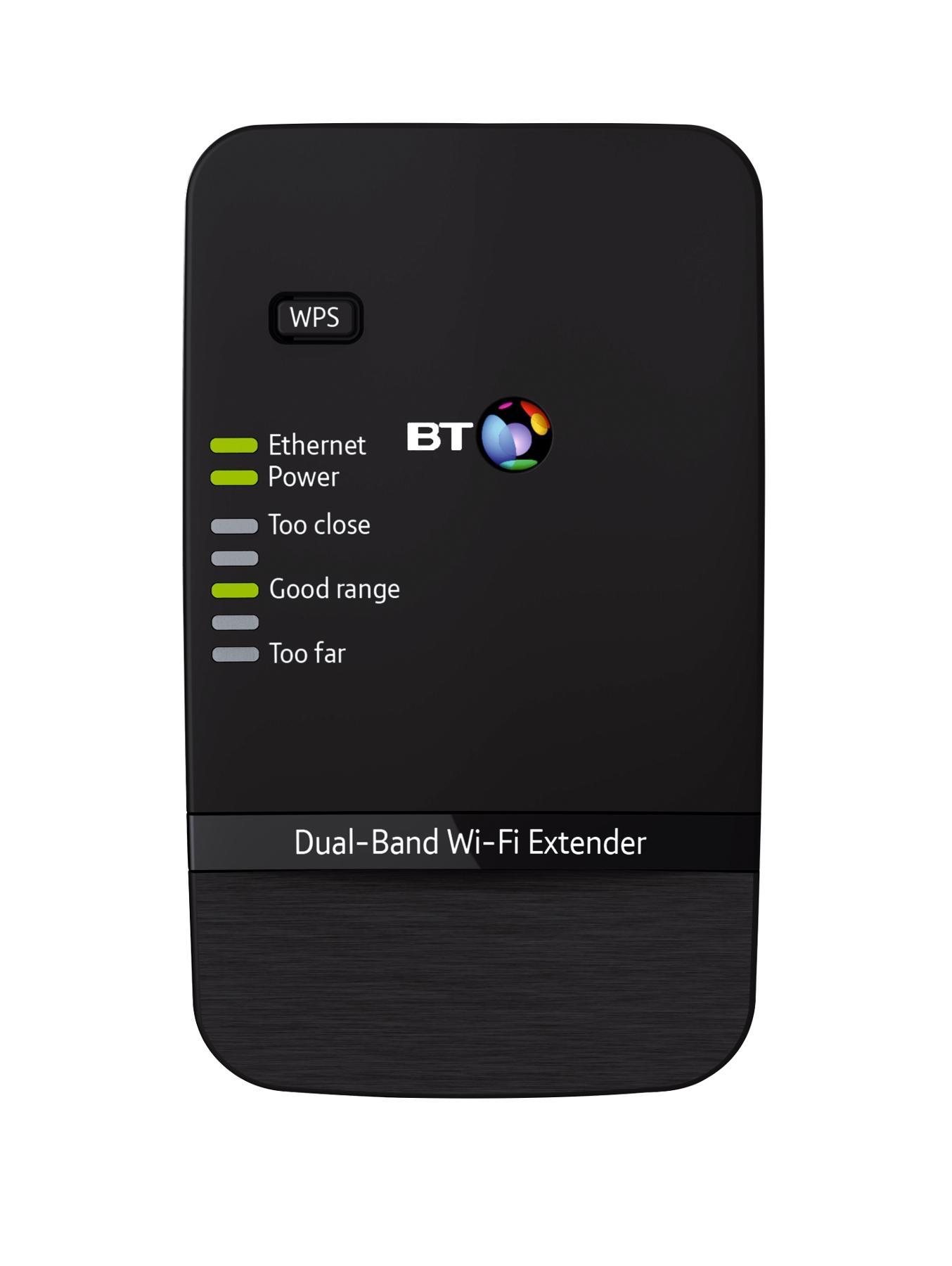BT Dual-Band Wi-Fi Extender 600 - Black