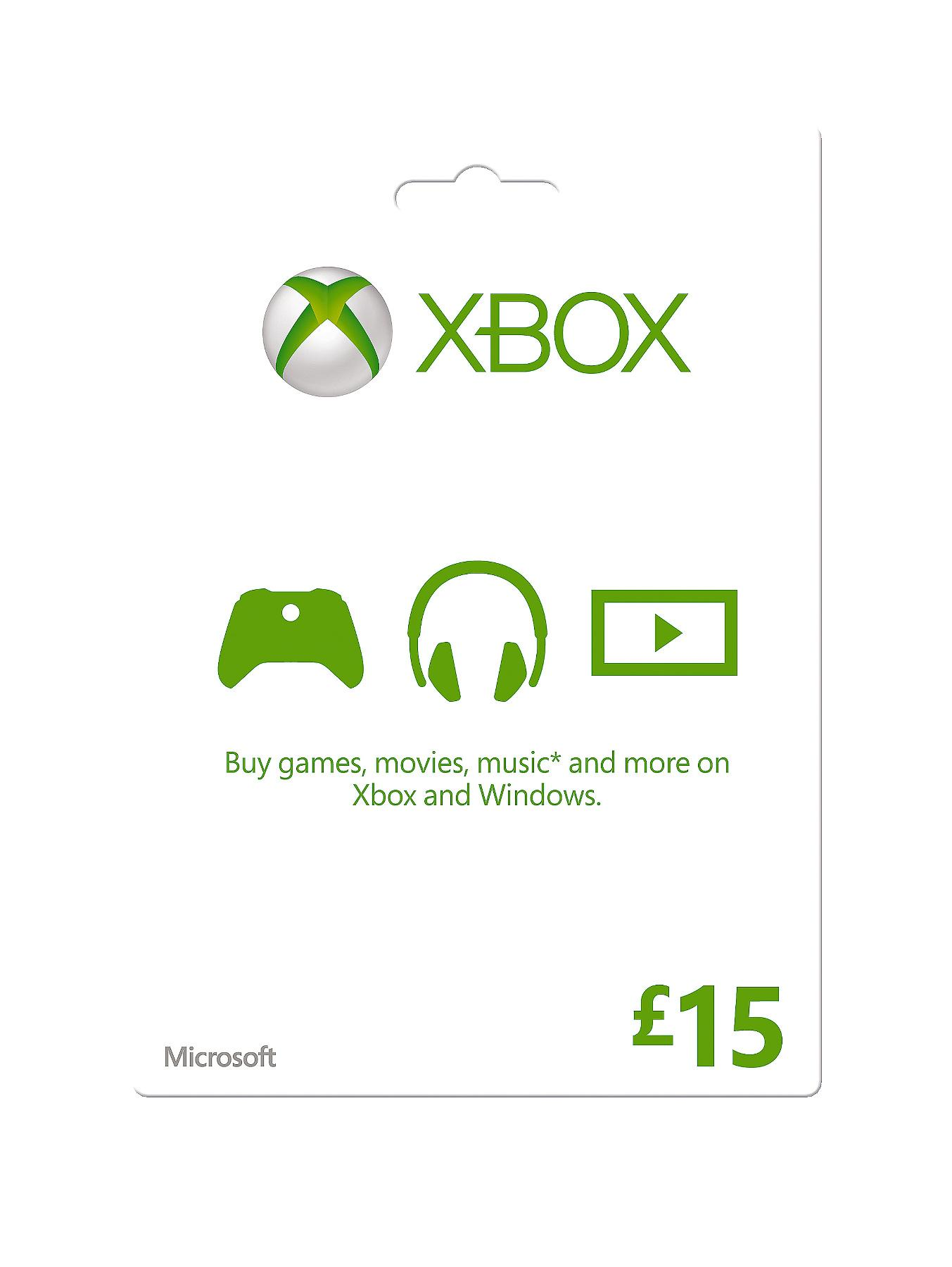 Xbox Live £15 Gift Card