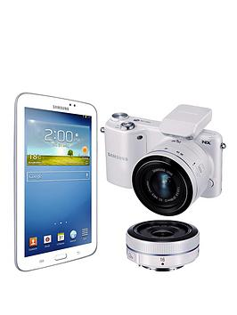 samsung-samsung-nx2000-compact-system-camera-with-20-50mm-lens-16mm-lens-and-7-inch-galaxy-tab-3-bundle
