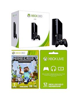 xbox-360-4gb-console-with-12-months-live-and-free-minecraft