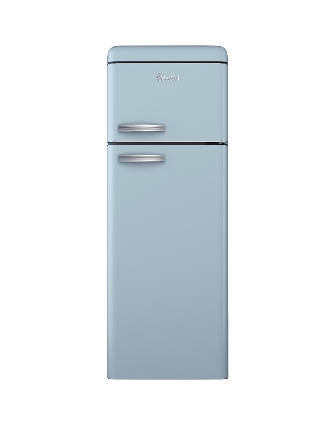 swan sr11010bln 55cm retro top mount fridge freezer blue. Black Bedroom Furniture Sets. Home Design Ideas