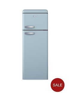 swan-sr11010bln-55cm-retro-top-mount-fridge-freezer-blue