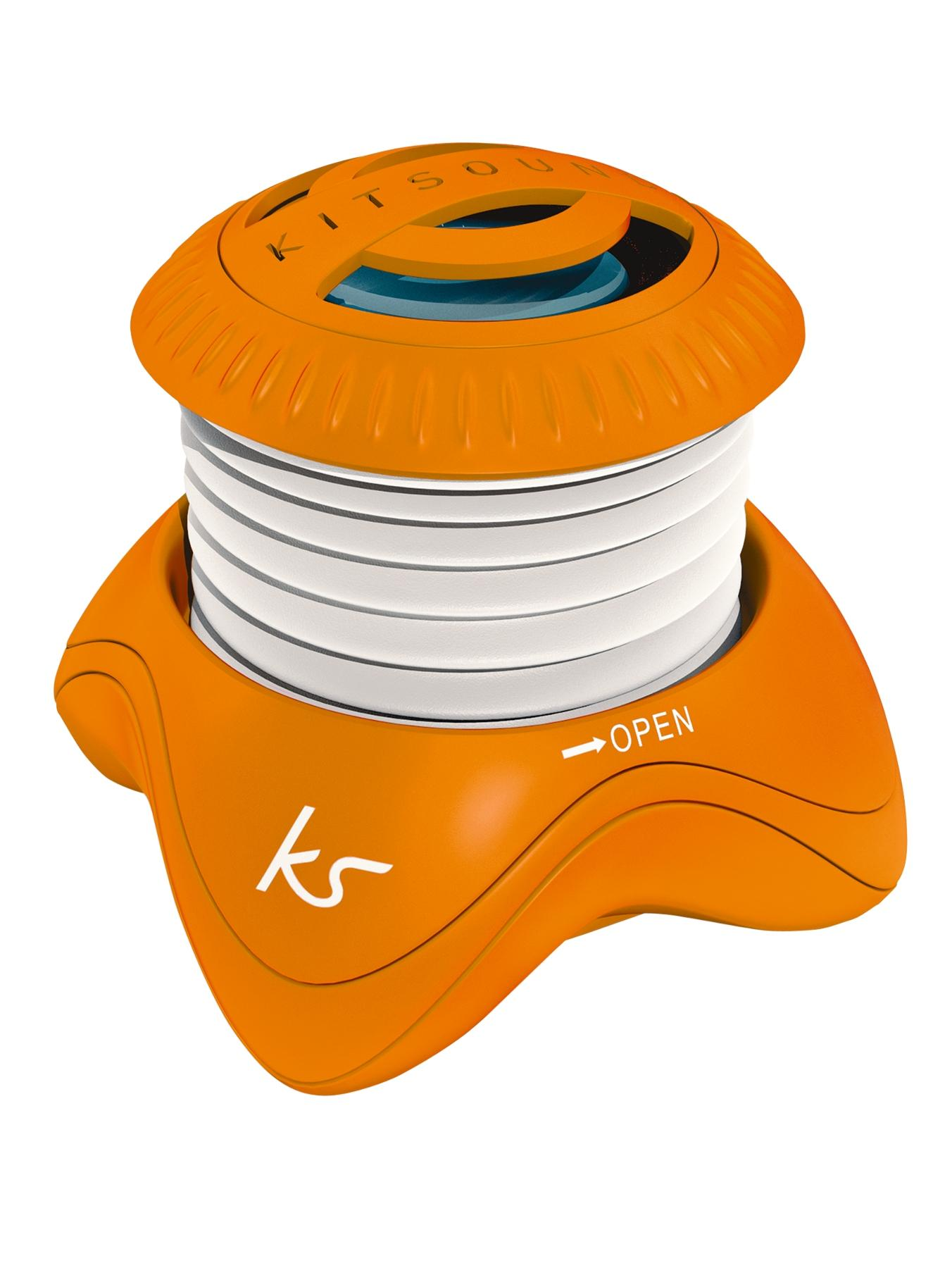 Kitsound Portable Capsule Speaker - Orange