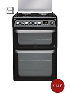 hotpoint-hud61ks-60cm-dual-fuel-cooker-black