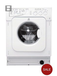 Indesit Ecotime IWME127 1200 Spin, 7kg Load Integrated Washing Machine