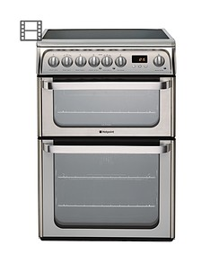 hotpoint-hue61xs-ceramic-double-oven-cooker-stainless-steel