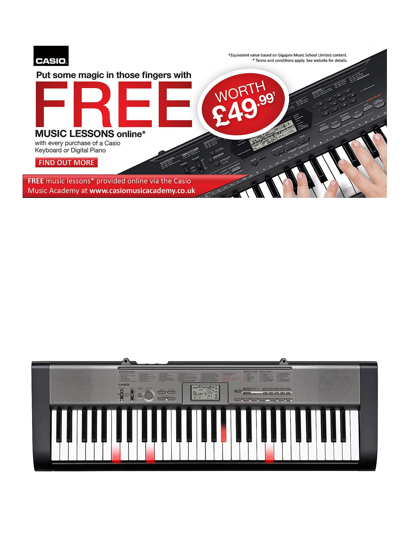 Casio LK-120 Full Size 61 Key Light Effect Keyboard Musical Instrument