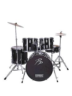 performance-percussion-full-size-drum-kit-musical-instrument-black-5-piece