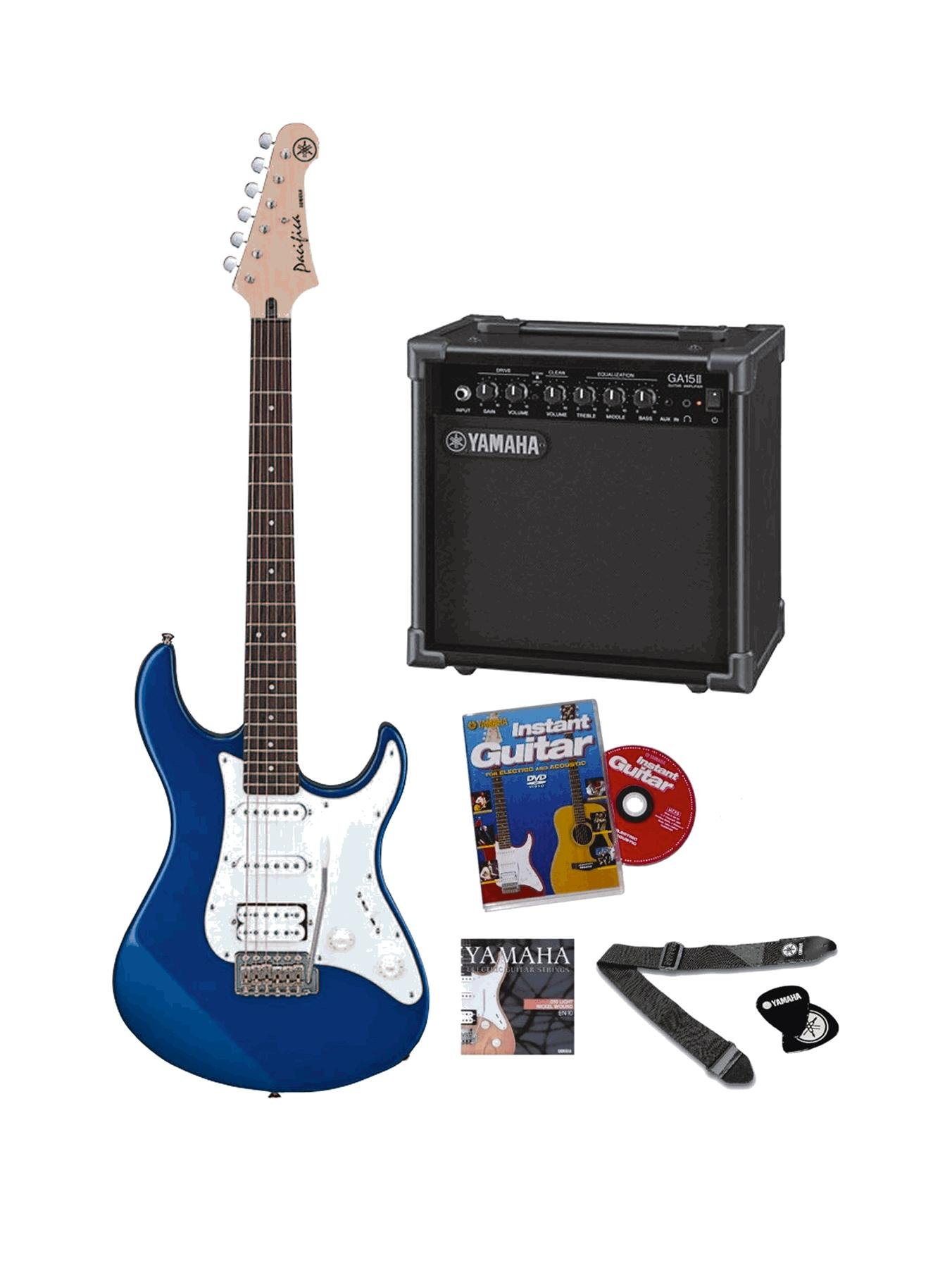 Yamaha Pacifica Electric Guitar Pack Musical Instrument - Blue