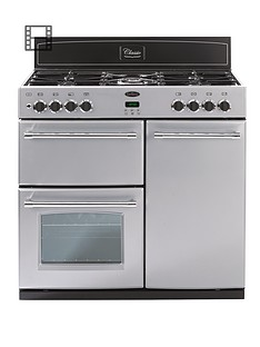 belling-90dft-90cm-double-oven-dual-fuel-classic-range-cooker-silver