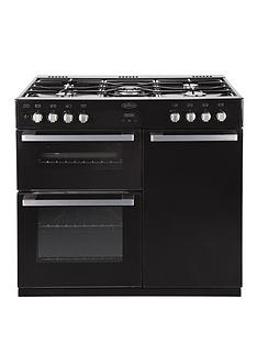 belling-db4-90dft-90cm-double-oven-dual-fuel-range-cooker-black
