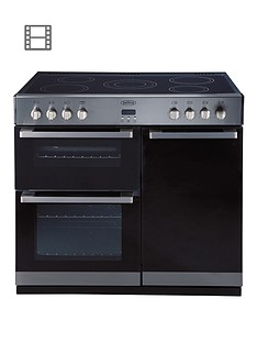 belling-db490e-90cm-double-oven-electric-range-cooker-stainless-steel