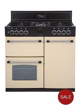 belling-90dft-90cm-double-oven-dual-fuel-classic-range-cooker-cream